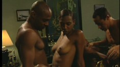 Africa and Kimber fuck a pair of throbbing boners side by side