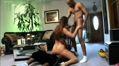 Extravagant black hooker is penetrated deeply by ebony thugs