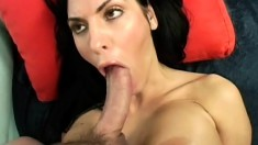Cougar Veronica Rayne finds her young stud to bang her and let her blow him