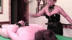Kinky blonde Mistress Pamela Payne welcomes her slaves to her world