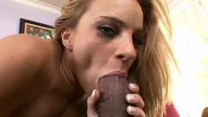 Slutty Kirra Lynn gets licked and dicked by his large black woody