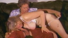 Horny blonde coquette wants to get on her knees and suck a cock