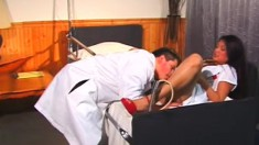 Ravishing Latina Nurse Exchanging Oral Pleasures With A Horny Doctor