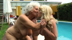 Naughty Miss Norma Introduces A Dazzling Young Blonde To Lesbian Sex