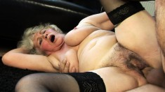 Sexy granny can't get enough of playing with an impressive cock
