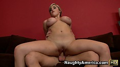 Dayna Vendetta undergoes a tit stretching ordeal at the hands of wanker