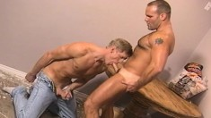 Hot gay studs have an orgy of cock sucking and ass slamming fun