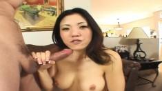 Busty Asian slut Kaiya Lynn takes every hard inch of cock up her ass