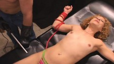 Foxy Redhead Annie Gets Toyed By Dr. Sparky And Eats His Meat