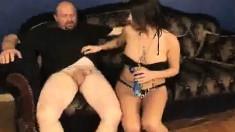 Stacked brunette hottie Whitney Stevens giving Crash a great handjob