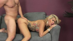 Sweet Blonde With Perfect Big Hooters Savana Loves To Get Banged Hard