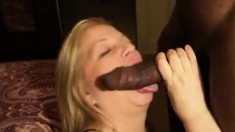 Mature Gilf Enjoying Interracial Blowjob