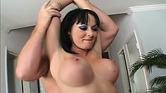 Busty raven haired hottie Melissa Lauren gets nailed wearing slutty stockings
