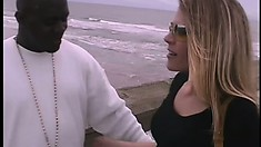 Sexy slender blonde is desperate to get pounded hard by a black stud