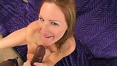 Lusty blonde tart gets her porcelain butt groped and fucked hard