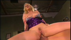 Exciting blonde Missy Monroe can't stop bouncing on a throbbing cock