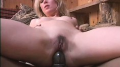 Cheating blonde wife goes black for a big snake pounding her ass