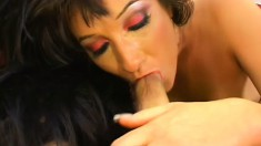 Camilla Ken shows off her divine body, fingers her twat and has fun with a hard cock