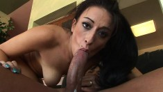 Nothing makes this broad happier than feeling a dick bottom out in her