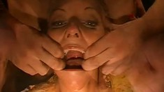 Nasty young girls enjoy hardcore sex action and swallow huge cumloads
