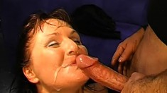 Trashy girls love to get fucked rough and to swallow huge loads of cum