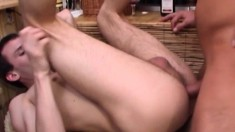 Exciting young boys Petr and Veno enjoying anal sex at the wine shop