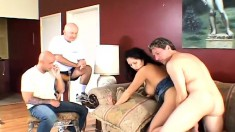 Hubby invites a friend over to watch his wife get nailed by another dude