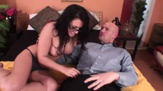 Sultry brunette with big tits gets picked up and fucked by a stranger