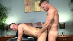 Two gay lovers set up a wild encounter to explore their sexual desires