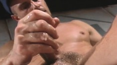 Muscled jocks get their asses fucked with dildos and a baseball bat