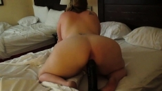 Super Body Pawg And A Huge Black Dildo