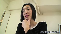 Attractive Asian milf with a pretty smile has desires and needs that require attention