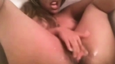 ebony with glasse squirt in bathtube 58