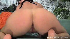 She spreads her legs to get pounded deep before enjoying a hard drilling from behind