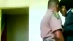 Nigerian Police Couple fucks in Station