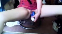 College Teen Vibrator Orgasm