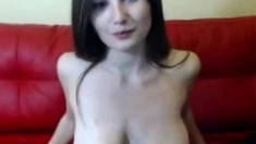 Busty webcam girl with huge Boobs