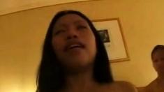 Filipina Bar Girl Jas Fucks In Front Of Friends