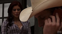 He swoons her with his twangy voice and guitar playing, she has it bad