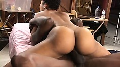 Lex breaks in a new model and piledrive fucks her and pounds with no mercy