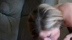 Mature Blonde Slut Blowjob On Knees