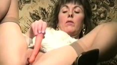 Slut girl vegetable DP.