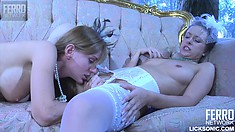 With their tongues and fingers, Denis and Rosa provide to each other intense pleasure