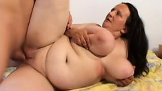 Fat as fuck housewife gets her BBW pussy pounded by her hubby