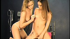 Nurse introduces a sexy broad to the most orgasmic sex toys around