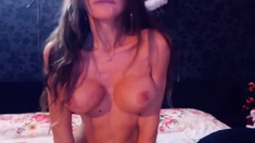 Big Melons Babe Nasty Play with her Dildo