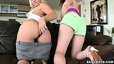 These two are out to prove that white hos also have great butts