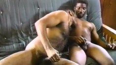 Two muscled gay dudes like to jerk themselves off side by side