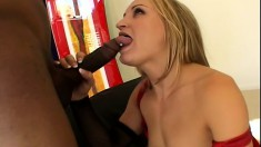 Sexy slim blonde wants nothing but a huge black rod hammering her ass