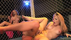 The trimmed pussy of Alexis Texas gets slammed hard on a fight arena